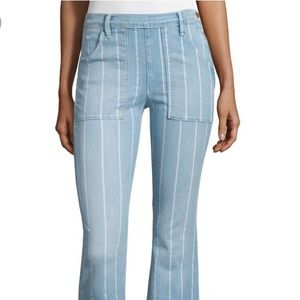 FRAME Le Flare de Francoise Stripe High Rise Jeans